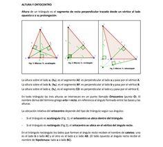 Ejemplo gráfico de las alturas de un triángulo acutángulo, un rectángulo y obtusángulo. Line Chart, Diagram