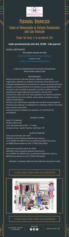 Curso Personal Organizer com Lori Nogueira -Turma: São Paulo 17 de outubro de 2015