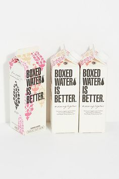 Milk Packaging, Brand Packaging, Box Water, Salt Box, Water Plants, Art For Kids, Free People, Packing, Branding