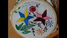 Hand Embroidery Designs # 170 - Tucker star design with straight stitch