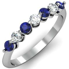 0.50 Carat (ctw) 14K White Gold Round Blue Sapphire and White Diamond Ladies 7 Stone Bridal Wedding Band Anniversary Ring 1/2 CT (Size 7) null http://smile.amazon.com/dp/B00BPGQQ7E/ref=cm_sw_r_pi_dp_DxXLtb10ZJ3KZBV2