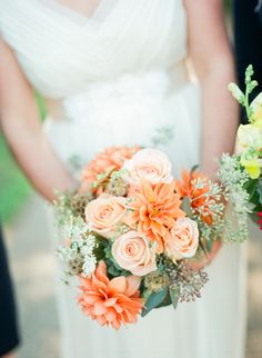 Vivid rose and chrysanthemum #bouquet.  Photography: Olivia Griffin Photography - oliviagriffinphotography.com  Read More: http://www.stylemepretty.com/2014/06/03/colorful-farm-wedding/