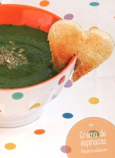 Crema de espinacas Spinach Recipes, Diet Recipes, Vegan Recipes, Cooking Recipes, Yummy Recipes, Healthy Cooking, Healthy Tips, Tasty, Yummy Food