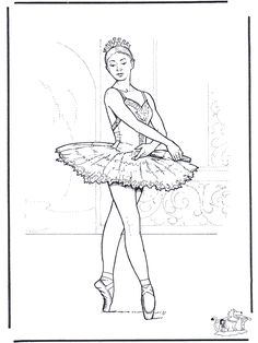 Printable Barbie Ballerina coloring in sheet Printable Coloring