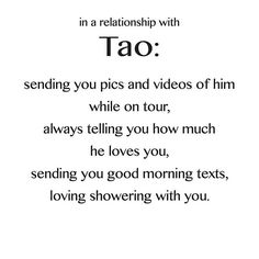 When in a relationship with Tao #EXO