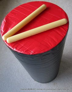 Duct Tape Drums | Journey Into Unschooling- If I ever have extra time, loads of extra duct tape and a reason to make a drum