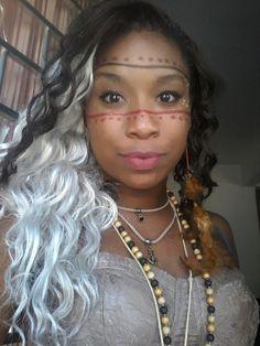 Maquiagem fantasia de índia - Carnaval Rio de Janeiro