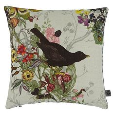Buy Multi Timorous Beasties for John Lewis Blackbird Cushion from our Cushions range at John Lewis & Partners. John Lewis Wallpaper, Of Wallpaper, Natural Form Art, Timorous Beasties, Cushions Online, Rose Cottage, Scatter Cushions, Cushion Fabric, Nature Prints