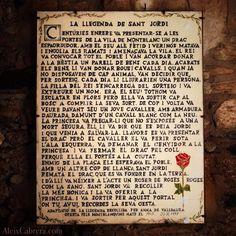 La llegenda de #SantJordi. Us la porto de Montblanc. #SantJordi2014 #santjordibcn14 #UOCSantJordi
