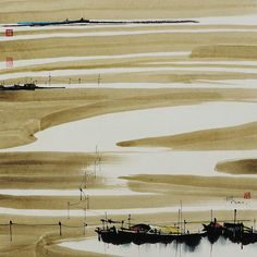 彩墨五幅 - 枫 - 汪钰元 More Chinese Landscape Painting, Chinese Painting, Chinese Art, Landscape Paintings, Chinese Design, Landscapes, Sumi E Painting, Japan Painting, Chinese Contemporary Art