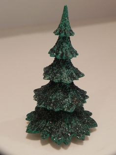Miniature Christmas Tree 31/2 Inch by baublesandblingforu on Etsy, $5.00