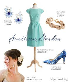 #Blue and #teal #bridesmaid outfit idea that is equal parts preppy, dressy, and fun (Composite by Sarah Zlotnick)
