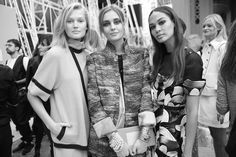 Toni Garrn, Nadja Bender et Joan Smalls http://www.vogue.fr/mode/inspirations/diaporama/fwpe2015-les-coulisses-de-la-fashion-week-de-paris-printemps-ete-2015-jour-8/20590/image/1101330#!toni-garrn-nadja-bender-et-joan-smalls