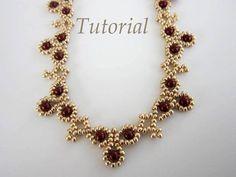 PDF tutorial Necklace Leuviah seed beads SWAROVSKY by BeadsMadness