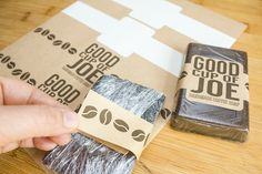 Learn how to make coffee soap + free label template.  These make great gifts.