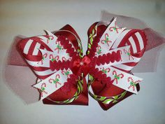 Christmas Boutique Style Hair Bow - $10