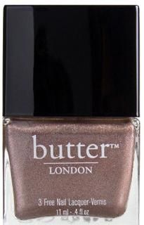 Champers Nail Lacquer  Opaque rose gold shimmer.  Brit slang for champagne; pop a bottle in the hamper for a toast on the beach-or anywhere else.