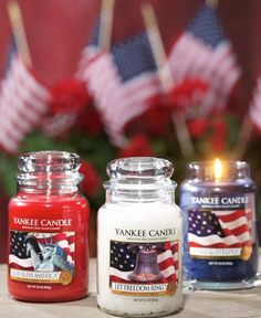 Yankee Red White & Blue Candles