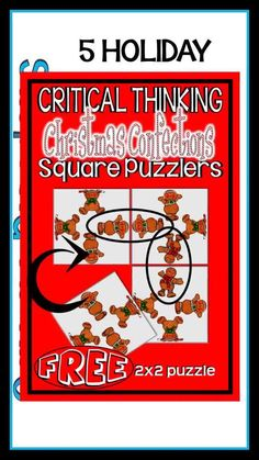 HOLIDAY SQUARE PUZZLERS BUNDLE combines 5 square puzzler products into one money saving package. This bundle of brain teasing, critical thinking puzzles will provide challenges for your students for 5 holidays through the school year. Pupils must reconstruct the differentiated square arrays so that all images match on every interior side. Each holiday's Square Puzzlers includes 3 leveled puzzles. [LOGIC PUZZLES, CRITICAL THINKING, HOLIDAYS, GATE, HOTS, BUNDLE, BRAIN TEASERS, TEACHER RESOURCES] Holiday Activities For Kids, Thanksgiving Activities, Teaching Activities, Halloween Activities, Logic Puzzles, Brain Teasers, Upper Elementary, Critical Thinking, Teacher Resources