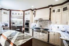 Kitchen Doors, Kitchen Linens, White Kitchen Cabinets, New Kitchen, Antique White Cabinets, Linen Cabinets, Lily Ann Cabinets, Kitchen Ornaments, Bathroom Cabinetry