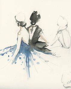 sketches by Katie Rodgers at Paperfashion
