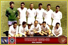 1959/60 Le Réal Madrid a décroché son Quatrième Coupe d'Europe en battant en finale Stade de Reims 2-0 au Neckarstadion, Stuttgart