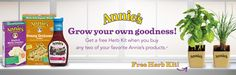 Free Herb Kit With Purchase of Annie's Products + Coupons - http://www.livingrichwithcoupons.com/2013/02/free-herb-kit-with-purchase-of-annies-products-coupons.html