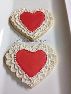 Wedding Engagement Anniversary Date Heart Love Decorated Sugar Cookie favors 1 Dozen Valentines Baking, Valentines Day Cookies, Valentines Day Hearts, Valentine's Day Sugar Cookies, Heart Cookies, Royal Icing Cookies, Engagement Cookies, Cookie Designs, Cookie Ideas