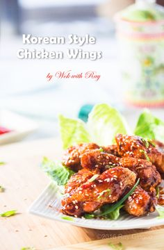 Crispy, Spicy, and Sticky Korean Style Chicken Wings