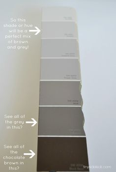 How to Choose the Perfect Greige Paint via TinySidekick.com  ( I have the colour 'greige' in my unit so this is handy to know )