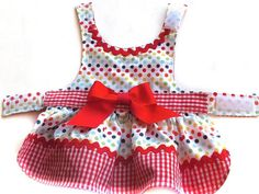 Dog dress size S/M dog dress pet dress pet por CreationsAnneClaude                                                                                                                                                                                 Más