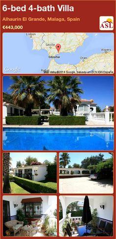 6-bed 4-bath Villa in Alhaurin El Grande, Malaga, Spain ►€443,000 #PropertyForSaleInSpain