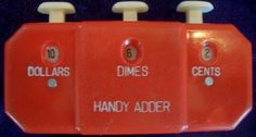 This is how the housewives used to count while shopping in the store!  Get this Collectible antique Handy Adder now under $4!!