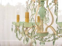 Pretty jade green chandelier