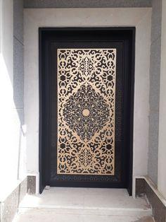 Jalli Design, Door Gate Design, Trendy Door, Decorative Metal Screen, Door Design Modern, Plafond Design, Single Patio Door, Gate Design, Exterior Door Colors