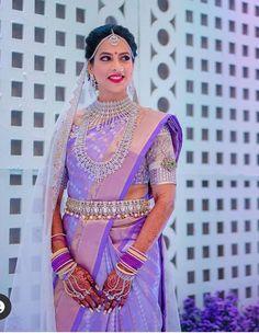 Indian Bride Poses, Bridal Sarees South Indian, Indian Bridal Outfits, Indian Bridal Fashion, Kids Blouse Designs, Dress Neck Designs, Bridal Blouse Designs, Wedding Saree Collection, Bridal Collection