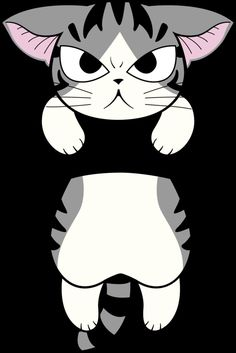 FREE printable angry chi cat paper toy   by miri-chiwa on DeviantArt