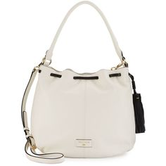 Cole Haan Anisa Leather Hobo Crossbody Bag ($165) ❤ liked on Polyvore featuring bags, handbags, shoulder bags, leather hobo purse, white leather purse, leather hobo shoulder bag, leather purse and leather crossbody