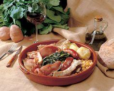 Cocido gallego, perfecto para maridar con vinos de Valdeorras y con mentías.