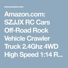 Amazon.com: SZJJX RC Cars Off-Road Rock Vehicle Crawler Truck 2.4Ghz 4WD High Speed 1:14 Radio Remote Control Racing Cars Electric Fast Race Buggy Hobby Car Golden: Toys & Games