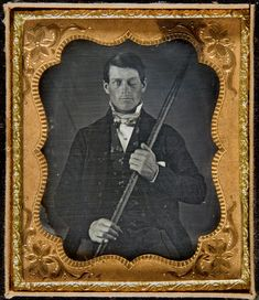 Phineas Gage, Neuroscience's Most Famous Patient http://www.slate.com/articles/health_and_science/science/2014/05/phineas_gage_neuroscience_case_true_story_of_famous_frontal_lobe_patient.html Phineas P. Gage holding the tamping iron which injured him.