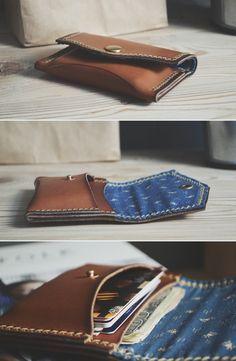 Wallet+cardholder / Blue cotton http://ruki-kryki.ru/en/shop/cards_wallet_colors/wallet_cards_blue_cotton/