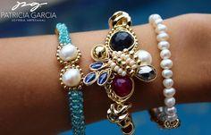 PG Pulseras con perlas, ágata, jade y cristales #pg #joyeriaartesanal #handmadejewelry #hec - pg_joyeriaartesanal