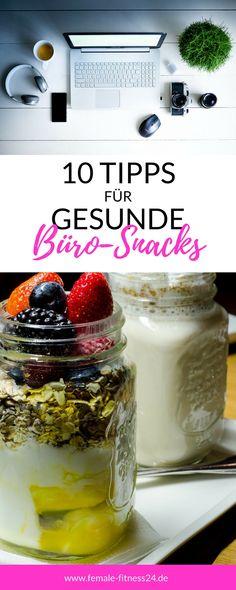 10 Tipps für gesunde Snacks im Büro, in der Schule oder Uni: Gesunder Lunch wie z.B. Salat im Glas / Schichtsalat, Obst, Gemüse, Wraps #gesundheit #fitness #snacks #tipps #femalefitness24