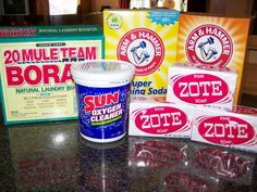 Homemade Laundry detergent using Zote pink