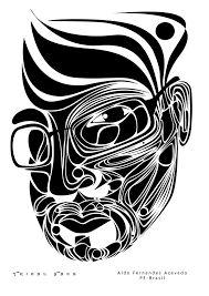"""Képtalálat a következőre: """"face illustration black and white tribal"""""""