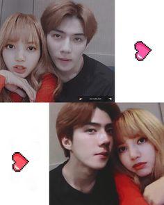 SEHUN X LISA HUNLISA HUNLICE . FF singkat about Hunlice ❤❤❤ #acak # Acak # amreading # books # wattpad Exo Couple, Korean Couple, Couple Goals, Korean Star, Korean Men, Kpop Couples, Cute Couples, Sehun Cute, Ulzzang Couple