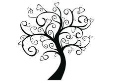 Wandtattoo Baum der Herzen - Schlafzimmer Deko | wall-art.de Online Shop