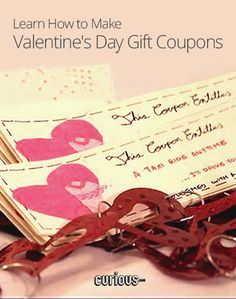 Looking for something different to give away this Valentine's Day? Eva Chung shows you how to make a personalized coupon book with some handmade love.