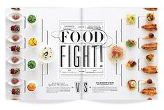 ★ DESIGN ARMY – Washingtonian Bride & Groom: FOOD FIGHT (Editorial Design and Art Direction) © Design Army LLC